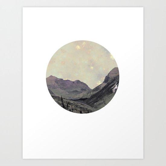 Alps Wanderer Art Print