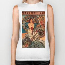 "Alphonse Mucha ""Monaco Monte Carlo"" Biker Tank"
