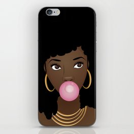 Natural Beauty Popping Pink Bubblegum iPhone Skin
