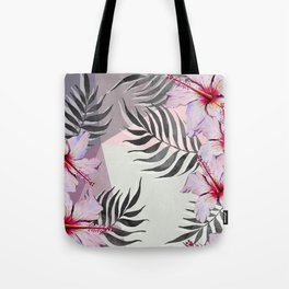 Ibiscus on Geometry Tote Bag