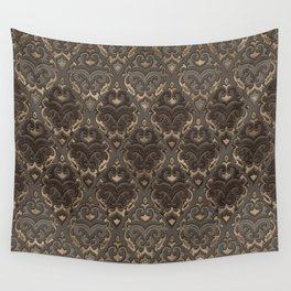 Oriental Pattern -Pastels and Brown Leather texture Wall Tapestry