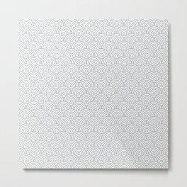 Light Grey Concentric Circle Pattern Metal Print