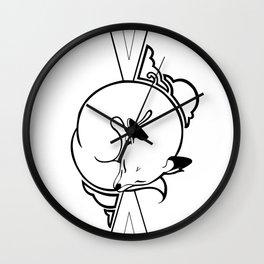 Sleeping Fox Wall Clock