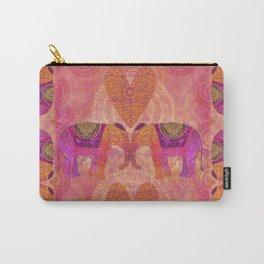 Elephants in Love Heart Art Carry-All Pouch