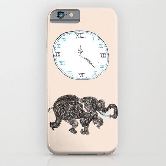Elefante reloj iPhone & iPod Case