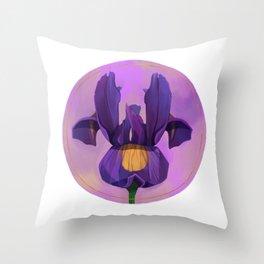 Little Iris Throw Pillow
