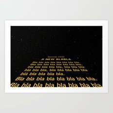 Episode XXVII - A New Blabla Art Print