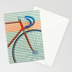 Standard Striped Bike Stationery Cards