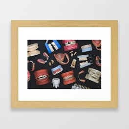 Tooth Collage Framed Art Print