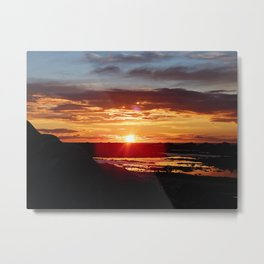 Ground Level Sunset Metal Print