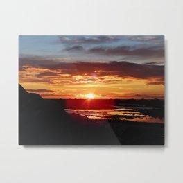 Ground Level Sunset Metal Print