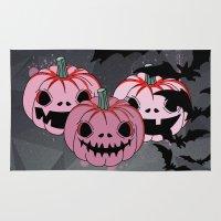 halloween Area & Throw Rugs featuring Halloween by mark ashkenazi