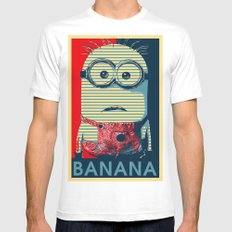 Minion banana Mens Fitted Tee White X-LARGE