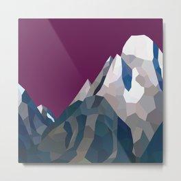 Geo Mountain Range (Part 3) Metal Print