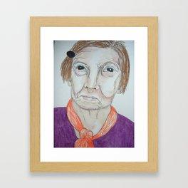 she smirks Framed Art Print