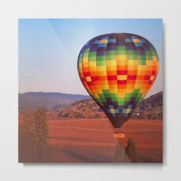 Hot air balloon over Napa Valley Metal Print