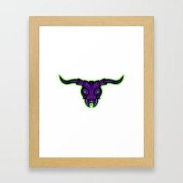 Long-horned Beetle Mascot Framed Art Print