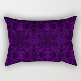 Purple Fracture Rectangular Pillow