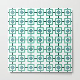 BOXED IN, TURQUOISE Metal Print