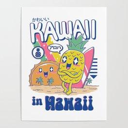 Kawaii in Hawaii Poster