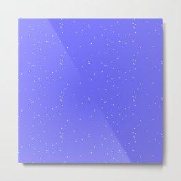 Lavender Blue Shambolic Bubbles Metal Print