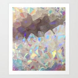 Iridescent Aura Crystals Art Print