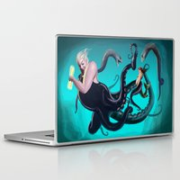 ursula Laptop & iPad Skins featuring Ursula by Jehzbell Black