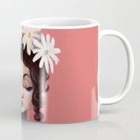 daisies Mugs featuring Daisies by Jaleesa McLean