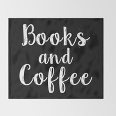 Books and Coffee - Inverted Throw Blanket