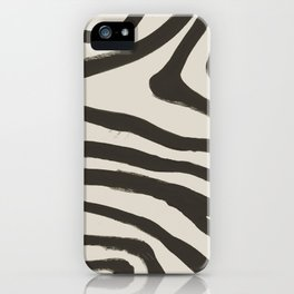 Painted Zebra iPhone Case