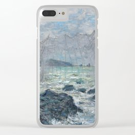 Fishing Nets at Pourville by Claude Monet Clear iPhone Case