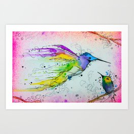 Liquid Hummingbird Art Print