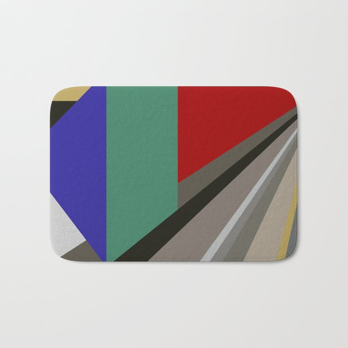 TRAVEL TO NOWHERE ABSTRACT Bath Mat