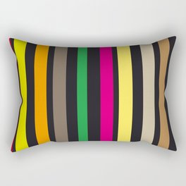 bold stripes and color Rectangular Pillow