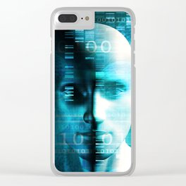 Medical Research in Genetics and DNA Science as Concept Clear iPhone Case