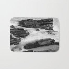 Athabasca Falls long exposure Bath Mat