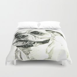 Smiling Boxer Boy Oscar Duvet Cover