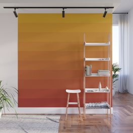 Gradient, Yellow Red Wall Mural