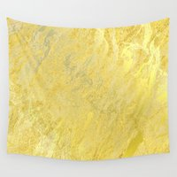 gold foil Wall Tapestries featuring Gold Foil by Sweet Karalina