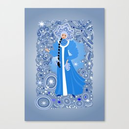 Beautiful snow maiden Canvas Print
