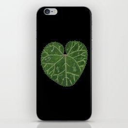 Cyclamen leaf - black iPhone Skin