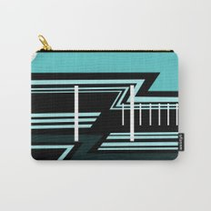 House in Blue Carry-All Pouch