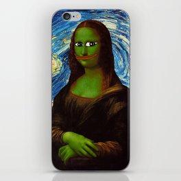 Pepe Mona Lisa/Starry Night iPhone Skin