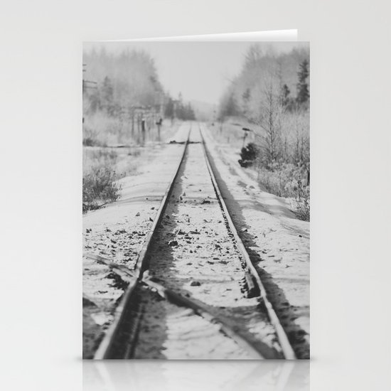 Tracks in Snow Stationery Cards