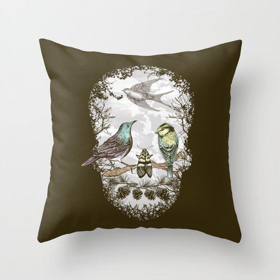 Nature's Skull II Throw Pillow