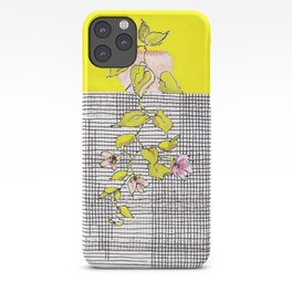 Tender, little hanging plant with stripes and checks, no. 24 iPhone Case
