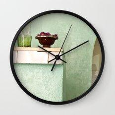 Tiny Green Home Wall Clock
