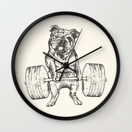 English Bulldog Lift Wall Clock