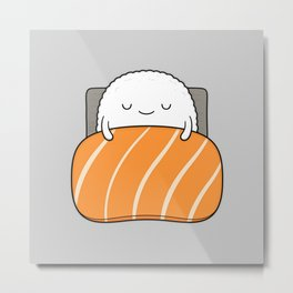 sleepy sushi Metal Print