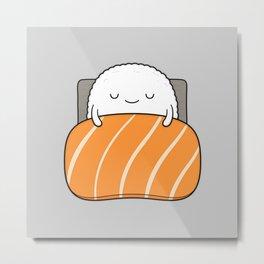 sleepy sushi Metal Print
